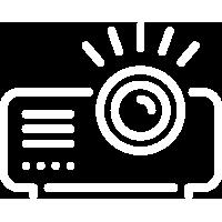 Video projecteur LED avec écran 16/9